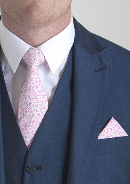 Pink Liberty Print Tie & Pocket