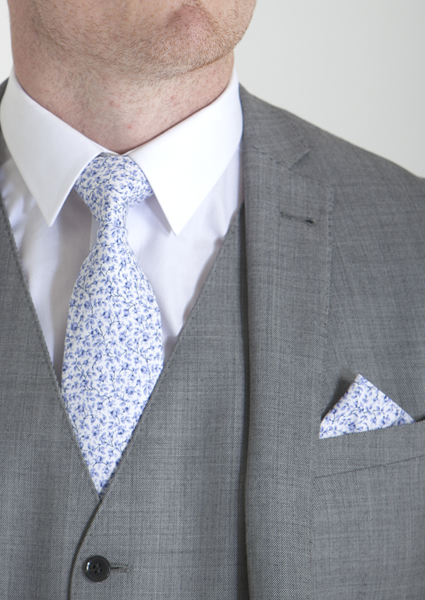 Blue Liberty Print Tie & Pocket